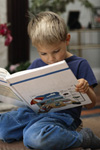 Boy reading