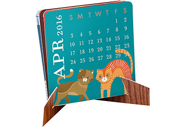 2016 Mini Accordion Desk Calendar