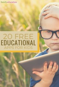 20 Free Educational Apps for Kids Pinterest Graphic