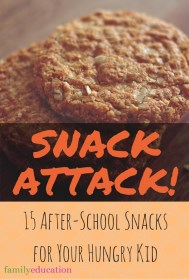 After School Snack Ideas for Kids Pinterest Graphic