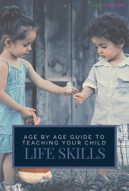 Age By Age Guide to Teaching Life Skills Pinterest Graphic