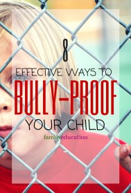 Tips to Bully Proof Your Child Pinterest Graphic