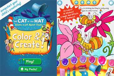 educational app for kids, Cat in the Hat