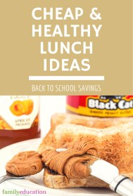 Cheap and Healthy Lunch Ideas Pinterest Graphic