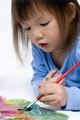 Child painting