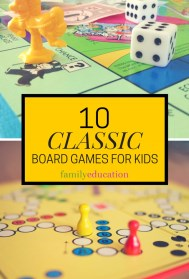 Classic Board Games for Kids Pinterest Graphic