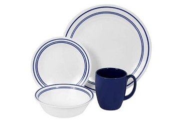 Made in the USA, Corelle blue banded dishware set