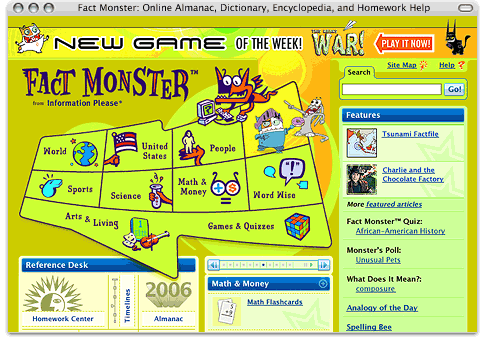 An Example of Fact Monster Customization