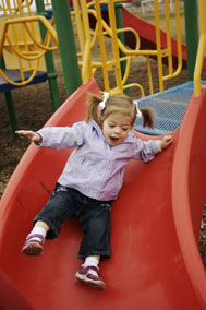 Playground,Preschool,GirlSliding,GirlPlaying