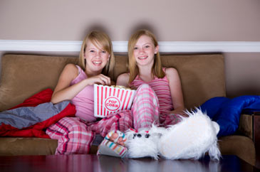 WatchingMovie,Sleepover,SlumberParty,GirlsWatchingMovie