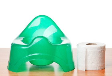 Green training toilet and toilet paper