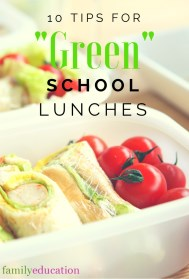 Green School Lunches Pinterest Graphic