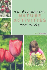 Hands On Nature Activities for Kids Pinterest Graphic