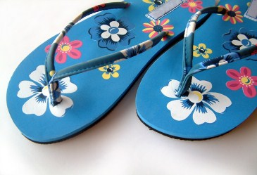 Pair of Hawaiian flip flops