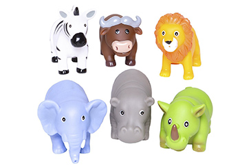 Jungle Animals Rubber Water Squirties