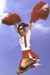 Female cheerleader