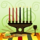 Kwanzaa candles and symbols