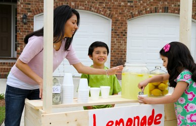 summer math activity, lemonade stand