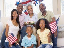 family celebrating Fourth of July