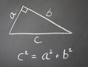 Basic algebra equation on blackboard