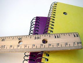 Notebooks and ruler