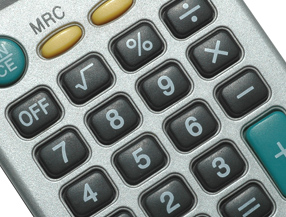 Close up of calculator