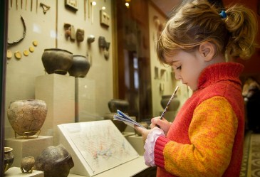 Little girl at the museum