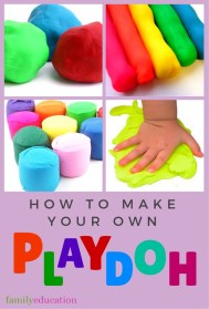 Make Your Own Play Dough Pinterest Graphic