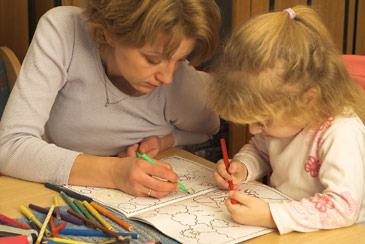Motheranddaughtercoloring