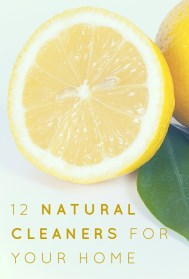 Natural Cleaners for Your Home Pinterest Graphic