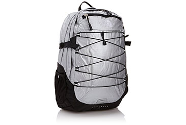 North Face silver backpack