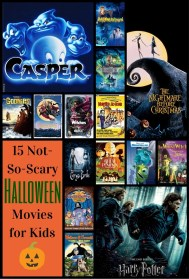 Not So Scary Halloween Movies for Kids Pinterest Graphic