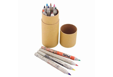 Tube of 12 recycled paper colored pencils