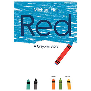 Red A Crayons Story book