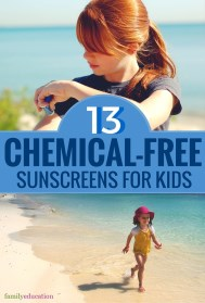 Safest Sunscreens for Kids Pinterest Graphic