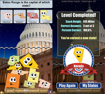 free app for kids, Stack the States
