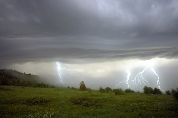 Summer Science for Kids, Thunder and lightning landscape great for studying weather with kids