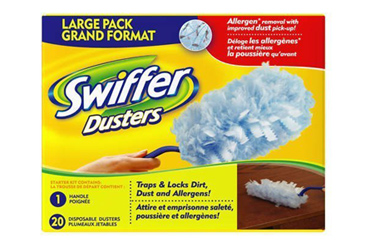 15 minute cleanup products, Swiffer Dusters product in box