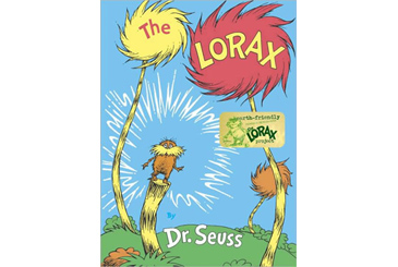 Earth Day books, The Lorax by Dr. Seuss
