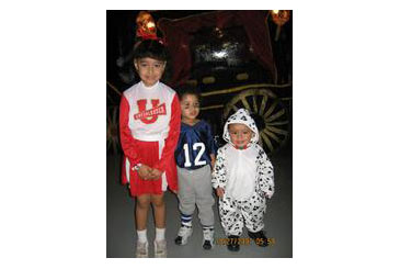 HallweenCostume,Cheerleader,FootballPlayer,Cow