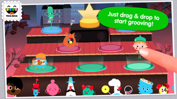 educational app for kids, Toca Band