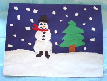 WinterCrafts,TornPaperPicture