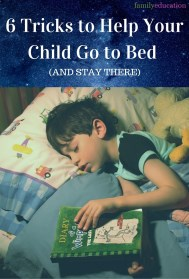 Tricks to Get Your Child to Go to Bed Pinterest Graphic