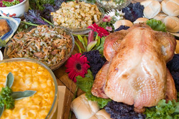 SpreadofThanksgivingFood,Turkey