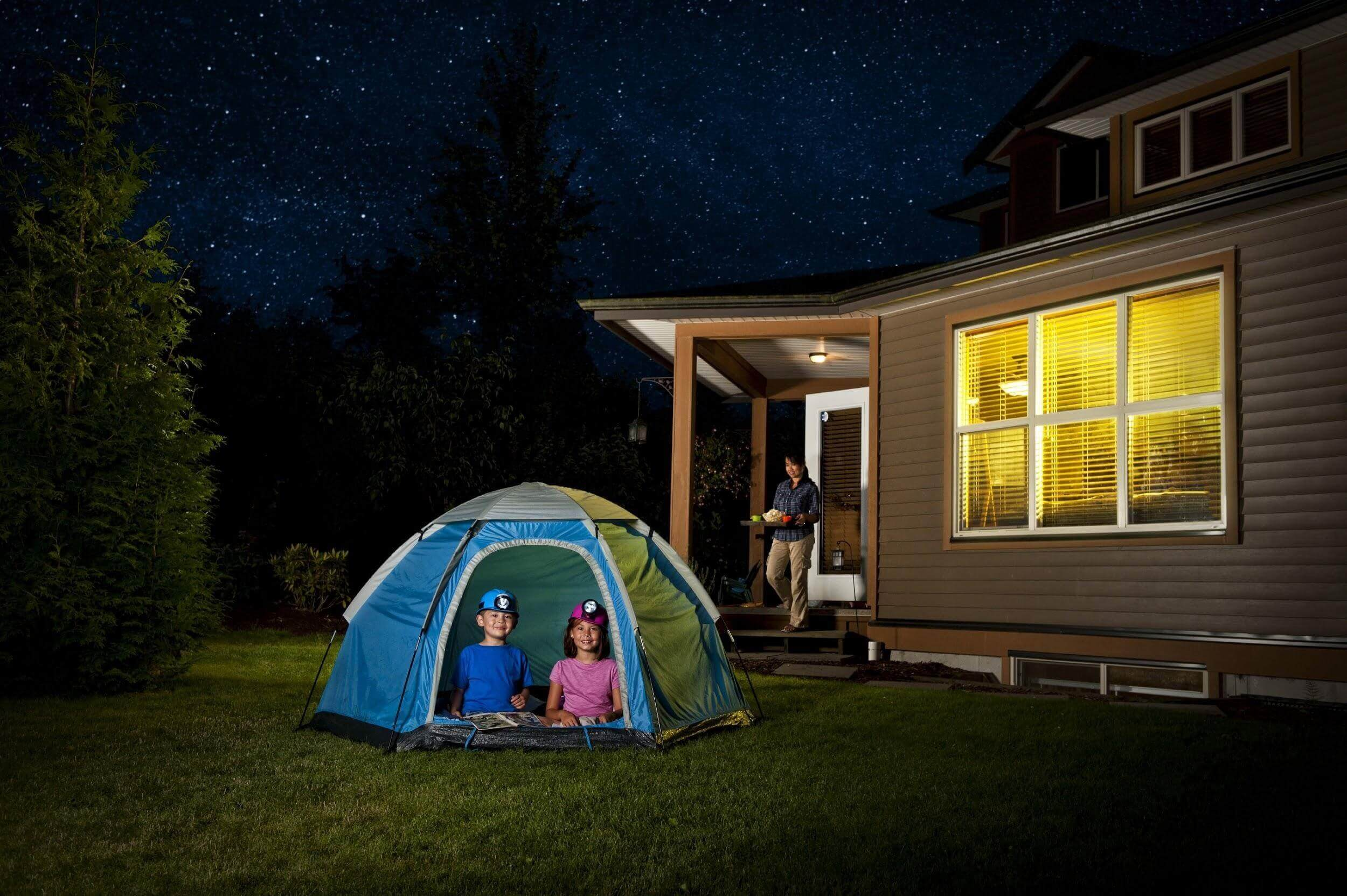 Sleeping In Tent In Backyard : Kids Sleeping in Tent in Backyard
