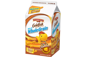 Healthy nut free school snack, Goldfish kids crackers