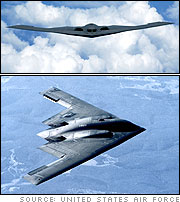 B-2 Spirit over the Pacific Ocean