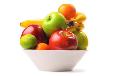 Green school lunch ideas, bowl of fresh fruit