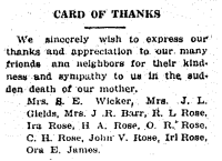 The family's thank-you when the mother died.