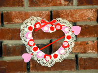 A Victorian-style Valentine's wreath.